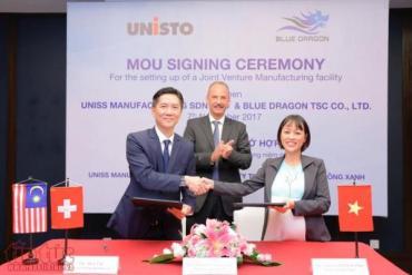 Tập đoàn Unisto (Thụy Sỹ) cùng Công ty Rồng Xanh ký kết hợp tác